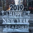 2019 Happy new year seaport display