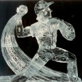baseball pitcher Ice Sculpture