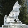 Dog Ice Sculpture