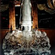 rocket ice sculpture