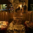 Golfing Santa Ice Sculpture