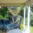 Martini glass with wraparound luge