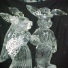 RABBIT COUPLE Easter Ice Sculpture