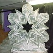Snow Flakes Ice Sculpture