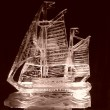 Sail boat Ice carving
