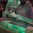 St Patricks day leprechaun on wedge luge