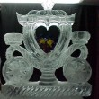 cinderella coach with flowers ice sculpture