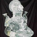 close up of indian goddess Ice Sculpture