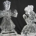 girl and cross Ice Sculpture