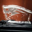 pats logo in white