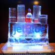 Jet Blue Ice Carving