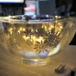 snowflake bowl with lights inside