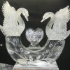 swans on the half circle Ice Sculpture