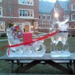 Santa's Sleigh Ice Sculpture